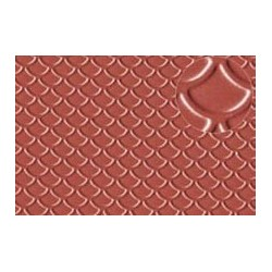 PL0438 PLASTIKARD 4 mm roof tile 300 x 174 x 0,5mm