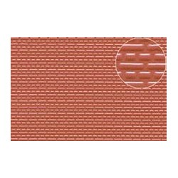 PL0445 PLASTIKARD 3 mm brick red 1:100 300 x 174 x 0,5mm