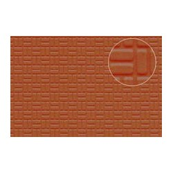 PL0454 PLASTIKARD 4mm Brick Paving 300 x 174 x 0,5mm