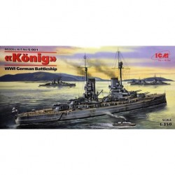 ICMS001 ICM Konig WWI German Ship 1/350