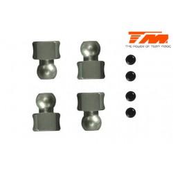 TM560116 Pièce détachée - M8JS/JR/B8ER - Aluminium 7075 traité dur - Rotules de barre anti-rouli (4 pces)