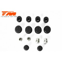 TM560120 Pièce détachée - M8JS/JR - Inserts Nylon de supports d'axes de suspension et entretoises Set
