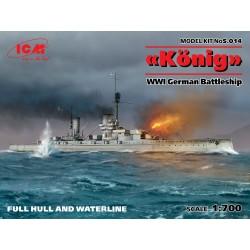 """ICMS014 """"König"""", WWI Ger. Battleship 1/144"""