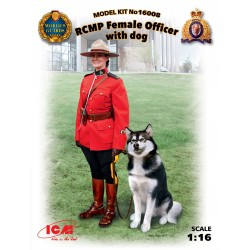 ICM16008 RCMP Female Officer with dog
