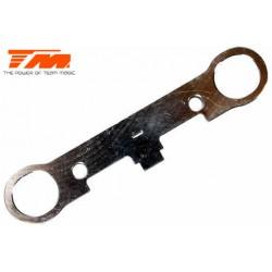 TM560158 Pièce détachée - M8JS/JR - Aluminium 7075 - Plaque arrière d'axes de suspension arrières inférieurs