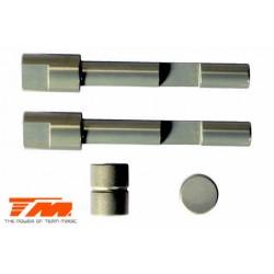 TM560164 Pièce détachée - M8JS/JR - Aluminium 7075 traité dur - Axe et came de frein (2 pces)