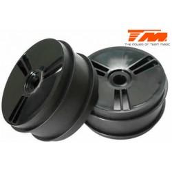 TM560220 Jantes - 1/8 Buggy - 17mm Hex - noires (2 pces)