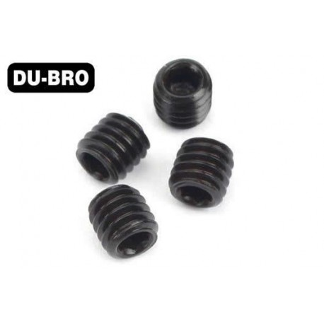 DUB2168 Grub Screws - 3mm x 3 Socket Set Screws (4 pcs per package)