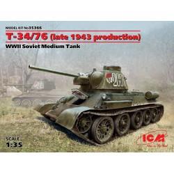 ICM35366 T-34/76 WWII Sov.Medium Tank 1/35