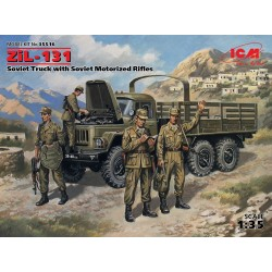 ICM35516 ZIL-131 Sov Truck+Mot Rifles 1/35