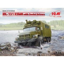 ICM35524 ZiL131 KShM with Soviet Driver 1/35