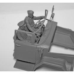 PL9066-233 Pneus - 1/8 Buggy - montés - Jantes V2 Blanc - 17mm Hex - Invader S3 (soft) (2 pces)