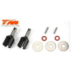 TM561301 Pièce détachée - B8RS - Sorties de différentiel acier AV/AR (2 pces)