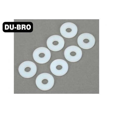 DUB638 Aircrafts Parts & Accessories - No. 10 Nylon Flat Washers (8 pcs per package)