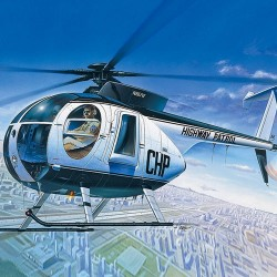 AC12249 HUGHES 500D POLICE HELICOPTER 1/48
