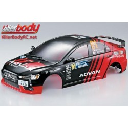 KBD48002 Carrosserie - 1/10 Touring / Drift - 190mm - Scale - Finie - Box - Mitsubishi Lancer Evolution X – Racing