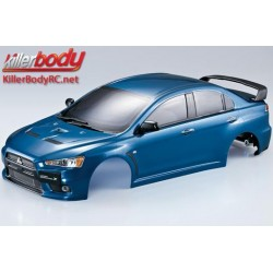 KBD48006 Carrosserie - 1/10 Touring / Drift - 190mm - Scale - Finie - Box - Mitsubishi Lancer Evolution X - Bleu