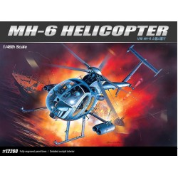 AC12260 MH-6 STEALTH HELICOPTER 1/48
