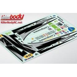 KBD48019 Autocollants - 1/10 Touring - Scale - Corvette GT2