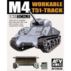 AF35026 AFV M4/M3 T51 SHERMAN Tracks 1/35