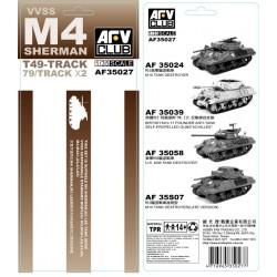 AF35027 AFV M4 T49 SHERMAN Tracks Soft 1/35