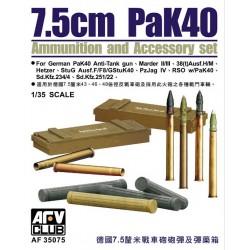 AF35075 AFV Pak 40 Ammo (Plastic) 1/35