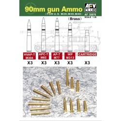 AF35076 AFV M36-46-26 90mm Ammo(Brass) 1/35