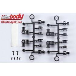 KBD48059 Pièces de carrosserie - Accessoires 1/10 - Scale - Support de carrosserie sans trous
