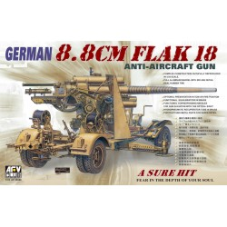 AF35088 AFV 88mm Flak 18 Anti-Aircraft 1/35
