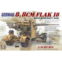 AF35088 AFV 88mm Flak 18 Anti-Aircraft 1/35