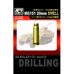 AF35090 AFV German MG151 20 mm Shell 1/35