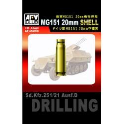 AF35090 AFV German MG151 20 mm Shell 1/35