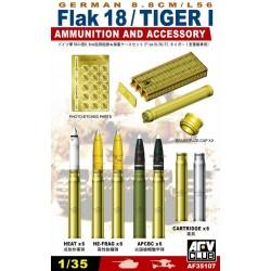 AF35107 AFV German 8,8cm L56 Ammunit. 1/35