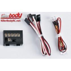 KBD48068 Set d'éclairage - 1/10 Scale - LED - Système d'éclairage avec Control Box - 2 warning LEDs (1 Bleu / 1 Rouge)
