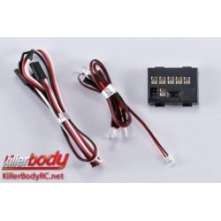 KBD48069 Set d'éclairage - 1/10 Scale - LED - Système d'éclairage avec Control Box - 6 LEDs (Phare supplémentaire)