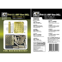 AF35111 AFV Brass US Army 90mm Shell 1/35