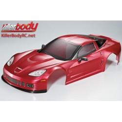 KBD48084 Carrosserie - 1/7 Touring - Traxxas XO-1 - Scale - Finie - Box - Corvette GT2 - Rouge métal foncé