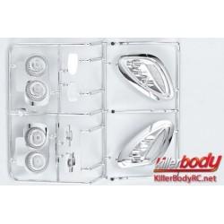 KBD48089 Pièces de carrosserie - 1/7 Touring - Traxxas XO-1 - Scale - Déflecteur Galvanisé Set pour Corvette GT2