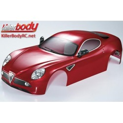KBD48092 Carrosserie - 1/7 Touring - Traxxas XO-1 - Scale - Finie - Box - Alfa Romeo 8C - Rouge métal foncé