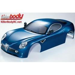 KBD48093 Carrosserie - 1/7 Touring - Traxxas XO-1 - Scale - Finie - Box - Alfa Romeo 8C - Bleu métal foncé