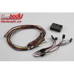 KBD48101 Set d'éclairage - 1/10 TC/Drift - Scale - LED - Système d'éclairage avec Control Box - 10 LEDs