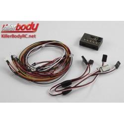 KBD48103 Set d'éclairage - 1/10 TC/Drift - Scale - LED - Système d'éclairage avec Control Box - 18 LEDs