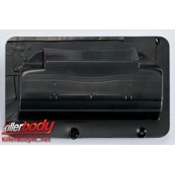 KBD48110 Pièces de carrosserie - 1/10 Touring / Drift - Scale - Aileron arrière - Carbone Fiber Pattern