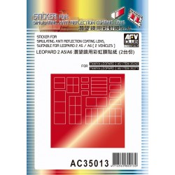 AFAC35013 AFV Stiker anti-reflect.LeopaII1/35