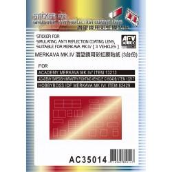 AFAC35014 AFV Stiker anti-reflect.Merkava1/35