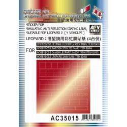AFAC35015 AFV Stiker anti-reflect.Leopard1/35