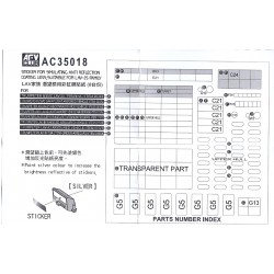 AFAC35018 Sticker simul suitable LAV-25 1/35