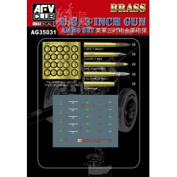 AFAG35031 AFV 3INCH Gun Ammo Brass Set 1/35