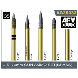 AFAG35032 AFV 76 mm Gun Ammo Brass set 1/35