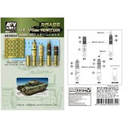 AFAG35034 UK 95mm Howitzer Ammo Set 1/35